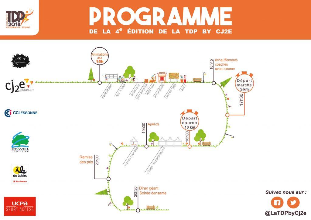 Programme de la TDP : La course des Entreprises de l'Essonne 2018