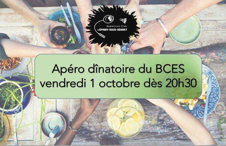 Apéro dinatoire du BCES - Vendredi 1er octobre 2021